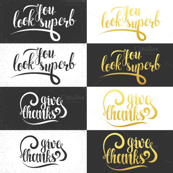 Phrase You look superb. Calligraphy - Product Mockups