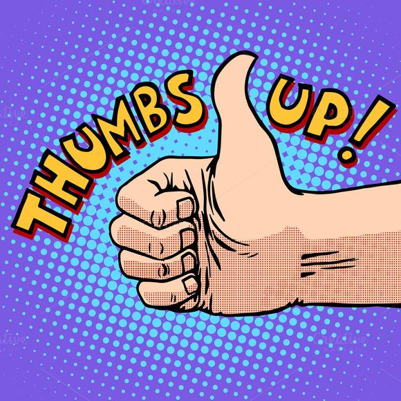 Thumbs Up Hitchhiking Symbol