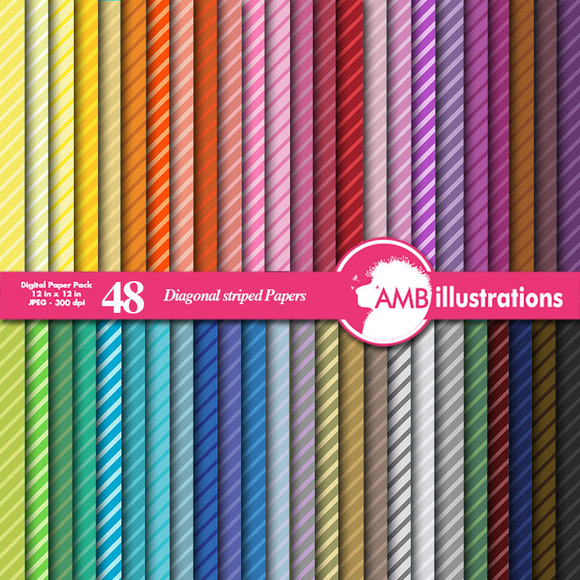 Diagonal Stripes Papers AMB-339