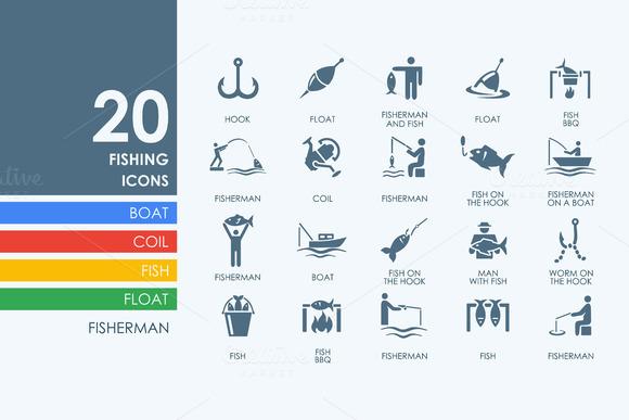 20 Fishing Icons