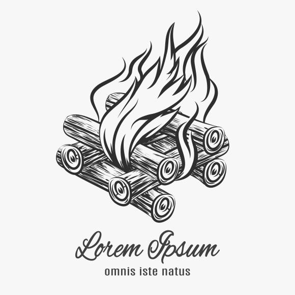 Camp bonfire emblem ~ Graphics on Creative Market