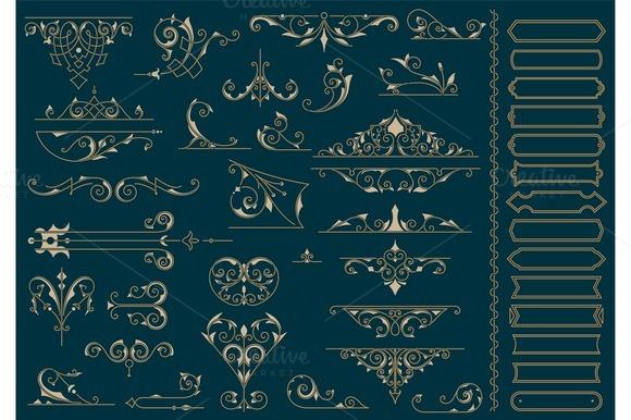 Vintage Ornaments. Design Elements - Illustrations