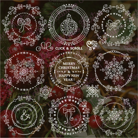 Winter Frames Wreath Decor Set