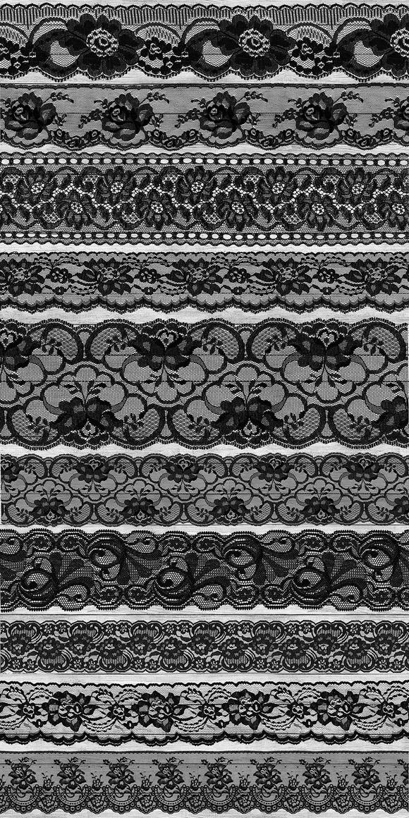 Black Lace Borders Clipart