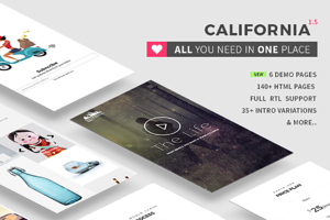 California - All in one HTML5 theme