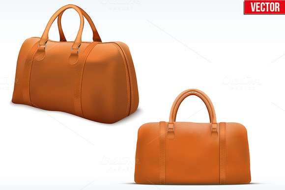 Classic Stylish Leather Handle Bag