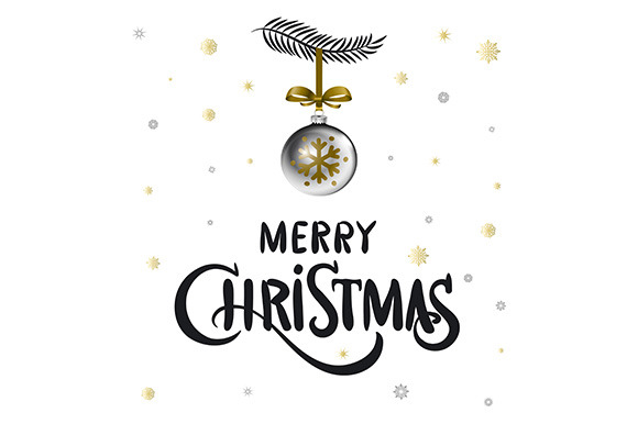 Merry Christmas Calligraphy Ball