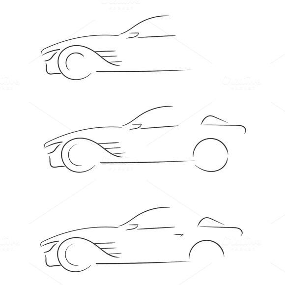 Sport Car Outlines