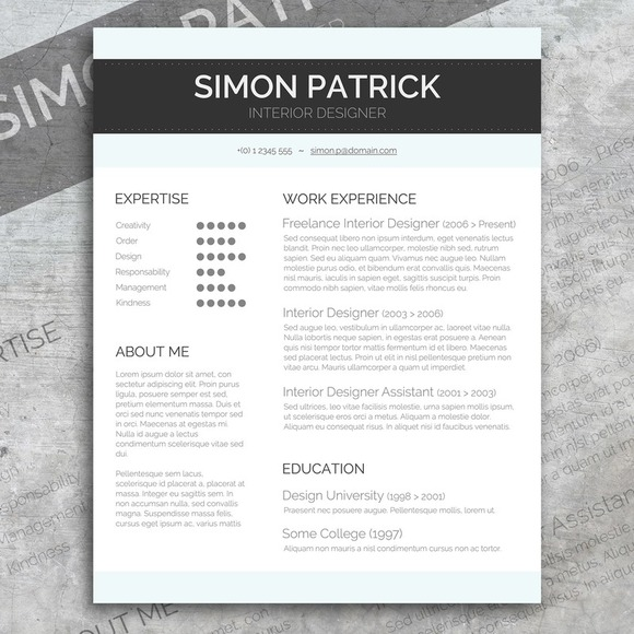 Smart Word Cv Amp Cover Letter Resume Templates On