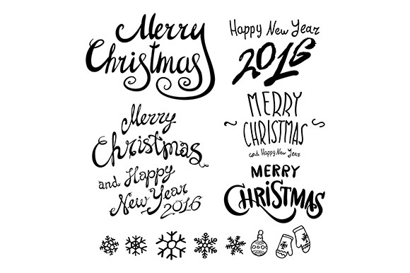 Merry Christmas. Happy New Year - Illustrations