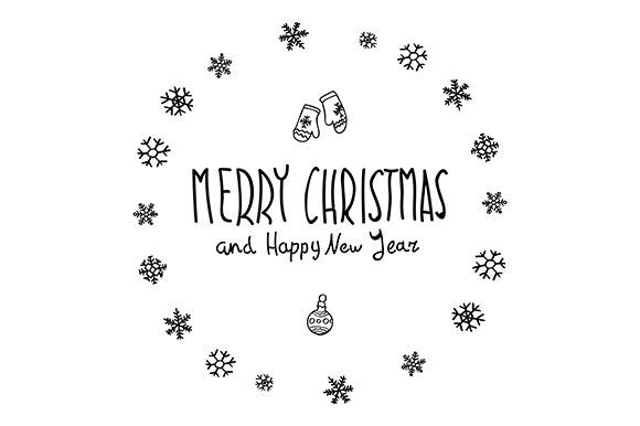 Merry Christmas. Happy New Year - Graphics