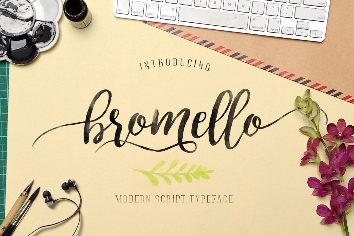 bromello typeface ~ Script Fonts on Creative Market