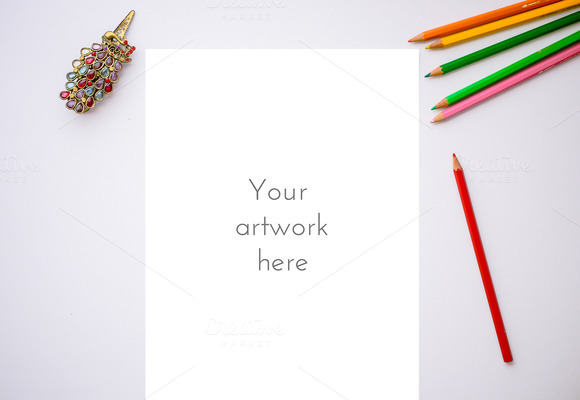 Mockup Pencil 2- PSD PNG JPG