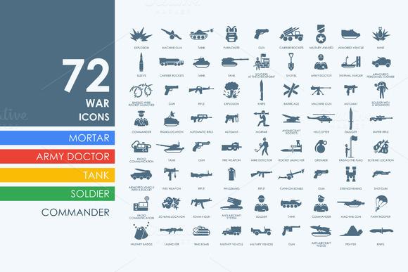 72 War Icons