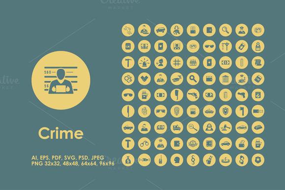 Crime Icons