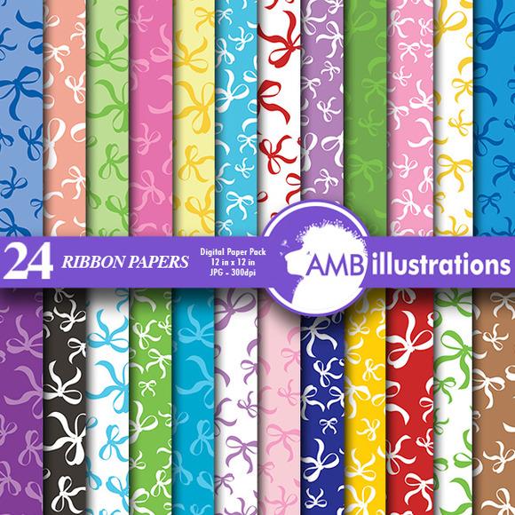 Digital Papers Ribbons Paper AMB-558