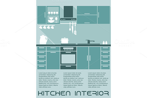 Kitchen Flat Interior Design Templat
