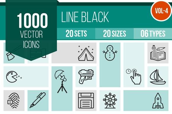 1000 Line Icons