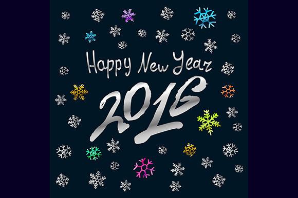 Happy New Year 2016. Vector - Graphics