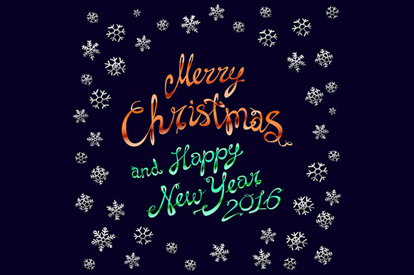 Merry Christmas. Happy New 2016 Year - Graphics