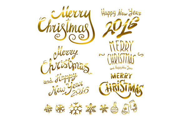 Merry Christmas Happy New 2016 Year