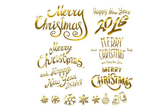 Merry Christmas. Happy New 2016 Year - Graphics