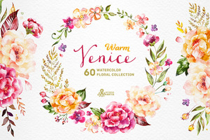 Warm Venice. Floral Collection