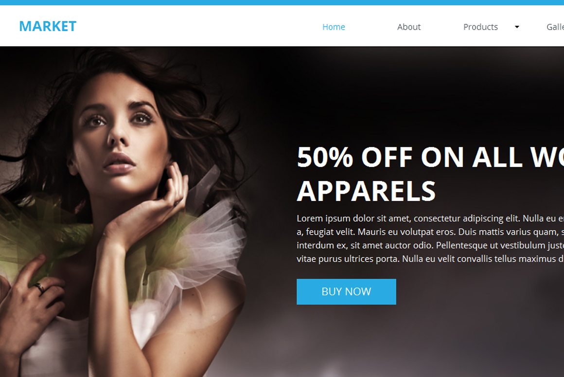 Market Ecommerce Muse Template Website Templates On