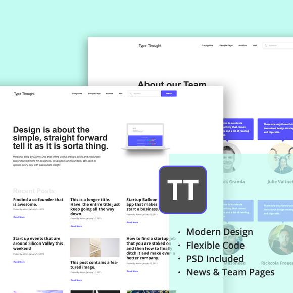 Type Thought WordPress Theme