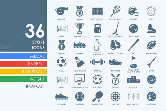 36 Sport Icons
