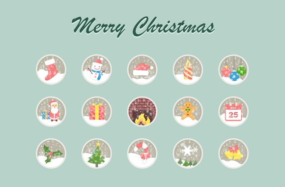 16 Lovely Christmas Vector Icons