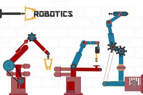 Robots. Vector - Illustrations