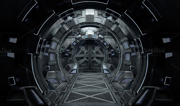 Spaceship Interior Round