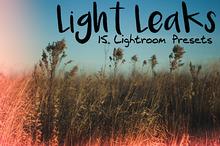 15 Light Leaks Presets