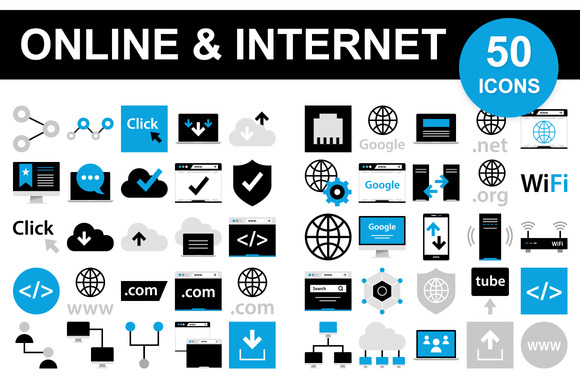 50 Internet Icons *$5 SALE*