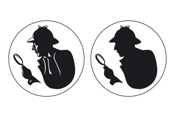 Detective vector silhouette ~ Graphics on Creative Market