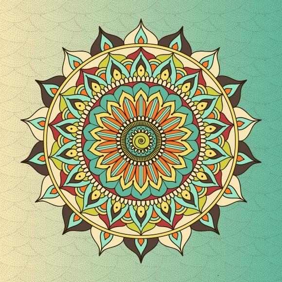 Ethnic Oriental Circle Mandala