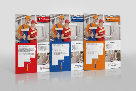 house paint contractor flyer flyer templates on creative