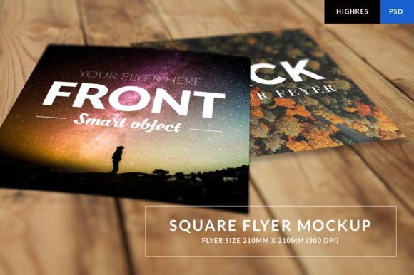 Square Flyer Mockup HR