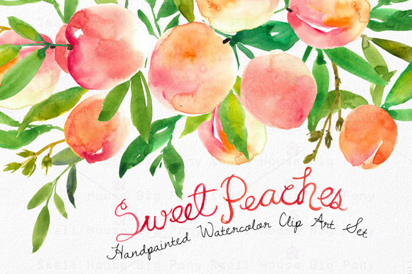 Sweet Peaches- Watercolor