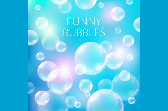 Soap Bubbles Transparent Circle
