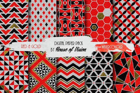 Red Geometric Pack