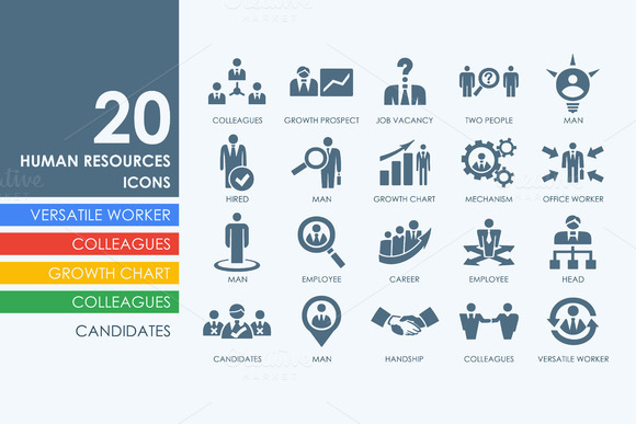 20 Human Resources Icons
