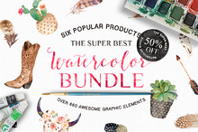 50% Off • Watercolor Bundle