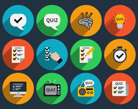Mind Games And Quizzes Flat Icons