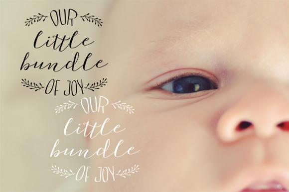 Baby Photo Overlay Bundle Of Joy