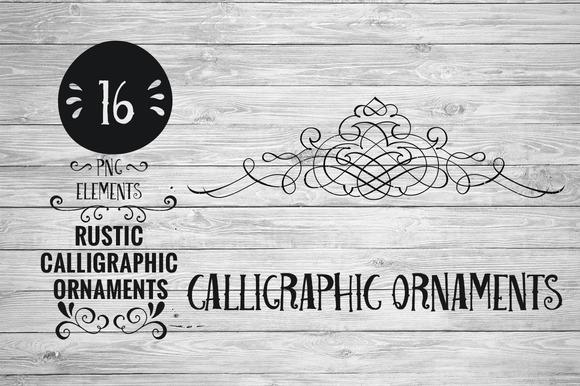 Rustic Calligraphic Ornaments
