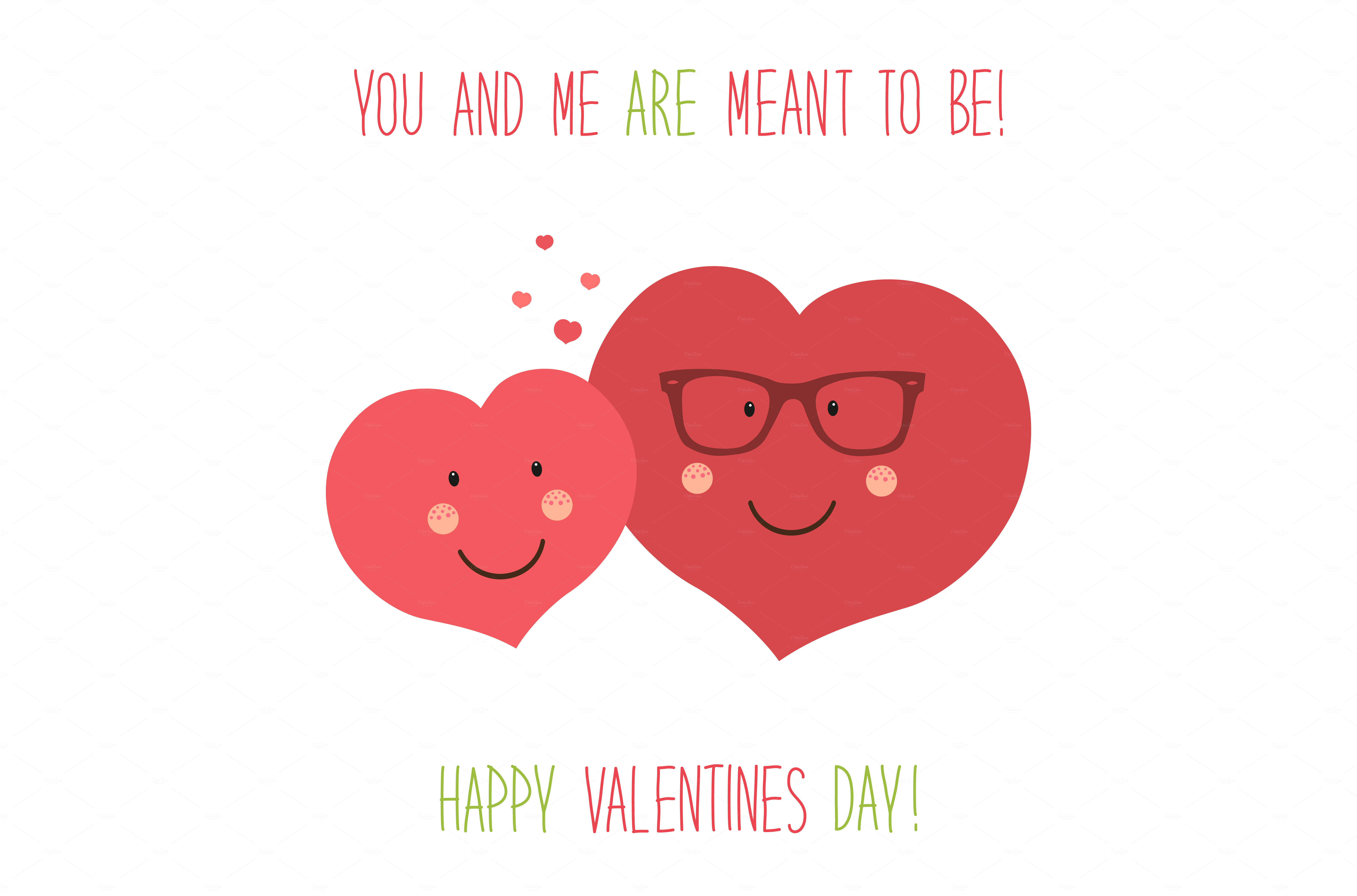Cute valentines day card graphics on creative market for Cute valentine day cards