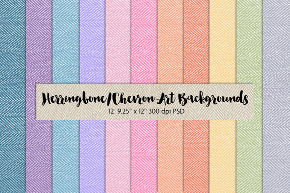 Herringbone Chevron Art Backgrounds