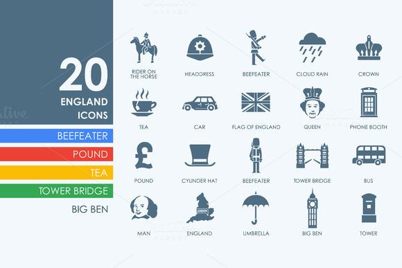20 England Icons